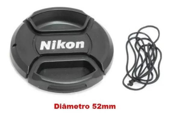 Tampa Com Logo Da Lente Nikon Af-s 35mm - Diâmetro 52mm