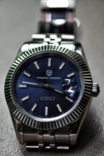 Relógio Pagani Design À Prova D'água 100m Automático