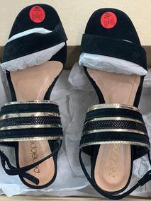 Sandália Stz Penelope Preta Com Salto Grosso