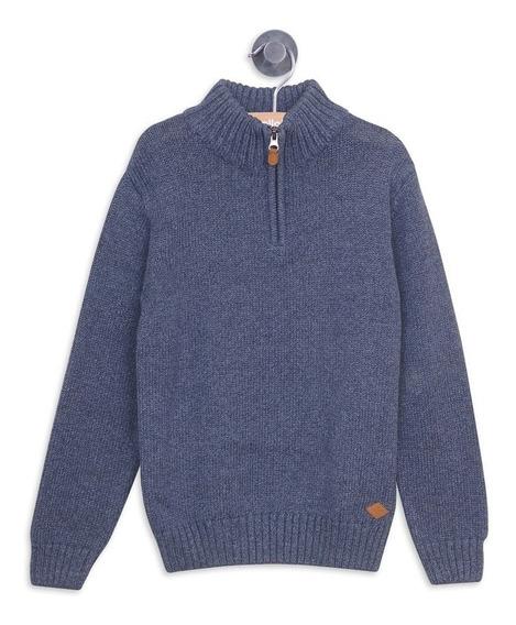 Sweater Vestir Denim Con Cierre Metálico Niño Colloky