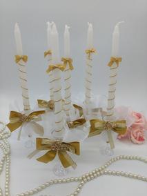 15 Velas Para Debutantes Dourada