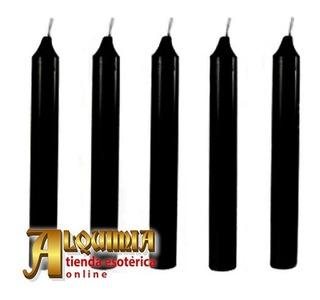 Velas Negras 5 Piezas - Para Magia Y Brujería