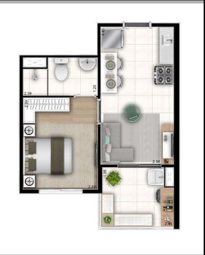 Venda Apartamento Sp Barra Funda 2 Quartos 48 M2 R$236.900