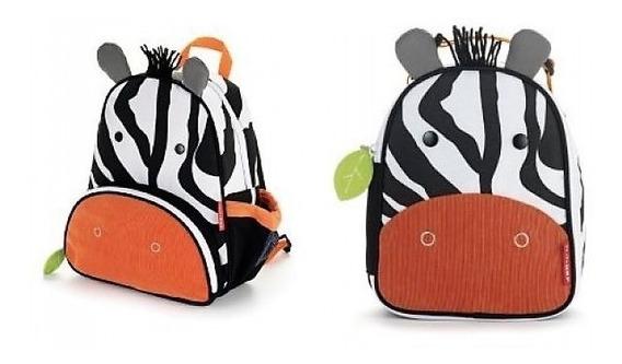 Conjunto Mochila E Lancheira Skip Hop - Zoo Zebra