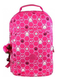 Mochila Escolar Gouldi Kipling Pink Dog Envio Gratis