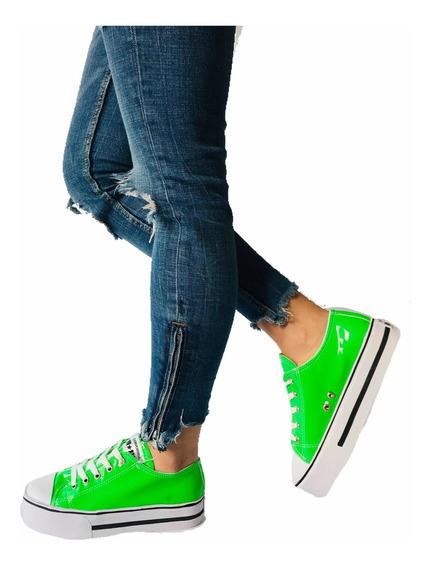 Zapatillas Mujer Plataforma Alta Colores Zapatillas Star