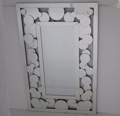 Espelho Decorativo De Parede Veneziano Hja 12036 Prata
