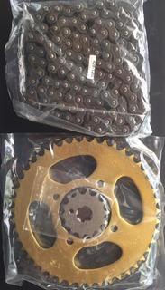 Kit Sprockets Yamaha Ybr125 + Cadena Reforzado