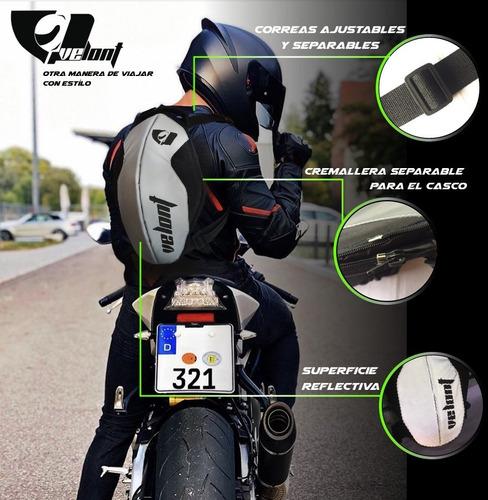 Maleta Porta Casco Compacto Reflectivo Moto Velont
