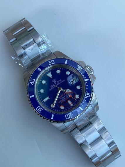 Reloj Quarzo Caballero Azul O Combinado