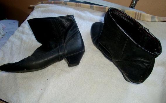 Botas De Cuero Negras Talle 36