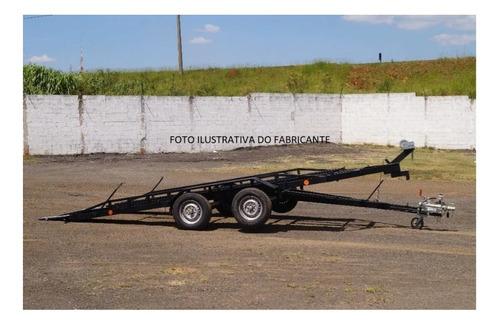Reboque P/ Transporte Veiculos 2 Ton- Basculante Com Freio