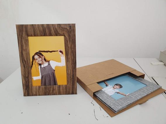 Kit 4 Porta Retratos 2-foto 15x21 2-10x15 Textura Luxo