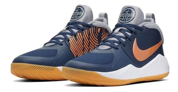 Tenis Nike Team Hustle D 9 Gs - Azul - Niños