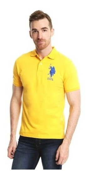 Us Polo Assn Playera Tipo Polo Amarilla Original
