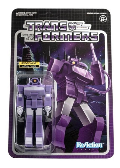 Super 7 Reaction Transformers Shockwave