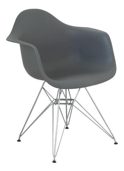 Cadeira Com Braço Eames Eiffel Cinza