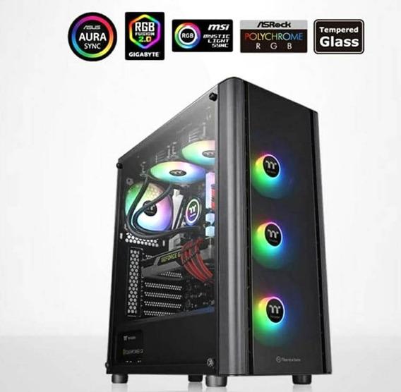Gabinete Thermaltake V250 Tg Argb - Coolers Front. Incluídos