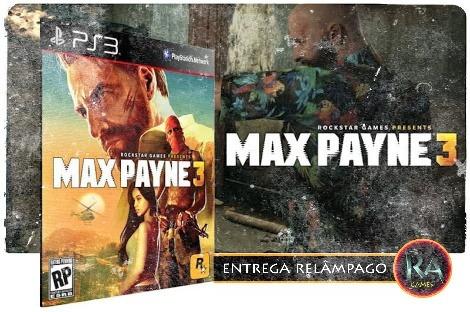 Max Payne 3 Ps3 Psn Jogo Em Português Promoção !!