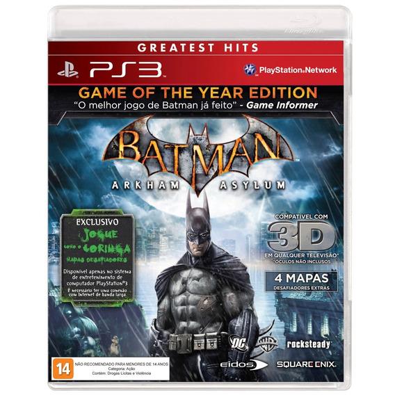 Frete Gratis - Batman Arkham Asylum - Ps3 - Midia Fisica