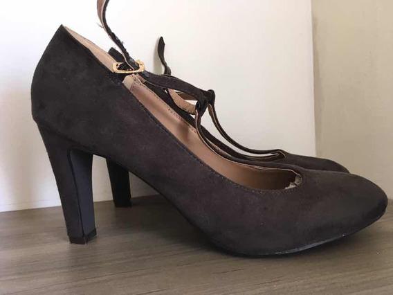 Sapato Boneca Camurça Tam 36