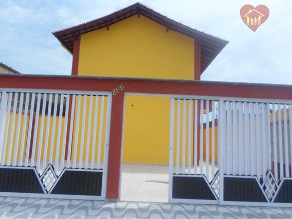 Lindo Sobrado Próximo Ao Centro De Mongaguá - 80 Mil De Entrada + Parcelas De R$ 750,00 - So0015