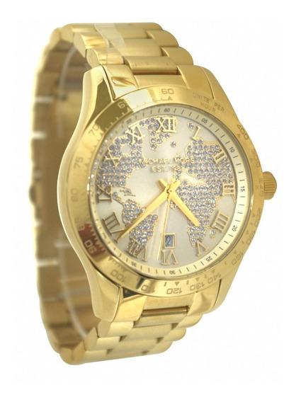 Relógio Michael Kors Mk5959 Layton Dourado Importado Eua