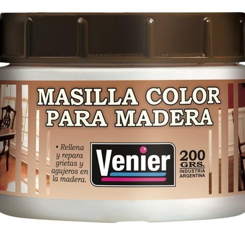 Masilla Para Madera Venier Colores Rellena Y Repara 200 Grs