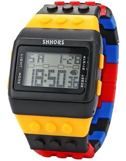 Reloj Digital Hombre Compatible Lego Shhors