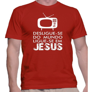 Camisa Camiseta Estampa Religiosa Ligue-se Em Jesus Deus Paz