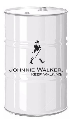02 Adesivos Decorativos Barril Tonel Tambor Johnnie Walker
