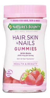 Natures Bounty Hair Skin & Nails Gummies 40u Pelo Piel Uñas
