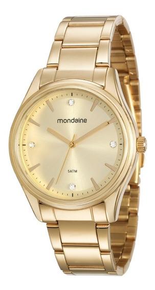 Relógio Mondaine Feminino Analógico Dourado Garantia 1 Ano