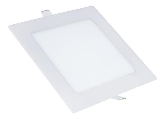 Kit 10 Plafon Led 12w Embutir Painel Quadrado Luminária Novo