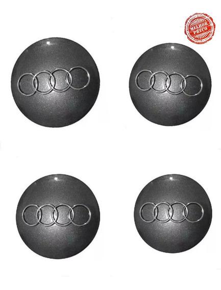 Jogo Calotinha Miolo Centro De Roda Audi A3 A4 A6 60mm