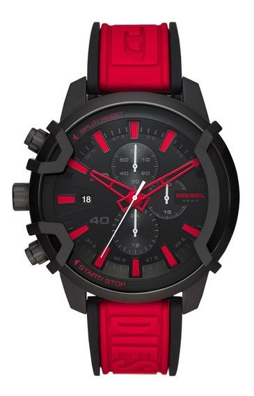 Relógio Diesel Masculino Cronógrafo Dz4530/1pn Vermelho
