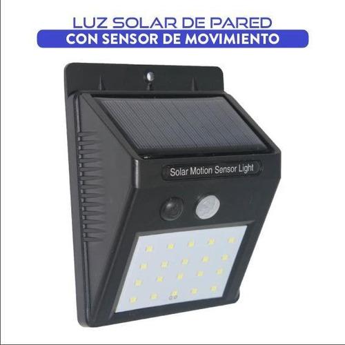 Imagen 1 de 6 de Luz Led Solar Con Sensor De Movimiento
