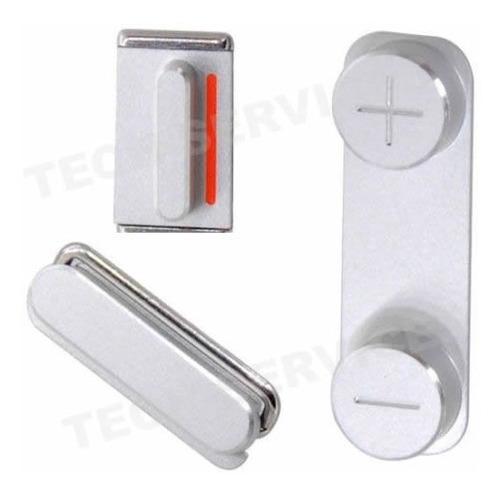 Kit Botones Volumen Hold Power Apple iPhone 5s Metalicos