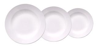 Set 18 Piezas Platos Redondos Melamina Con Diseños Plato Playo Hondo Postre Juego Vajilla Plástico Resistente