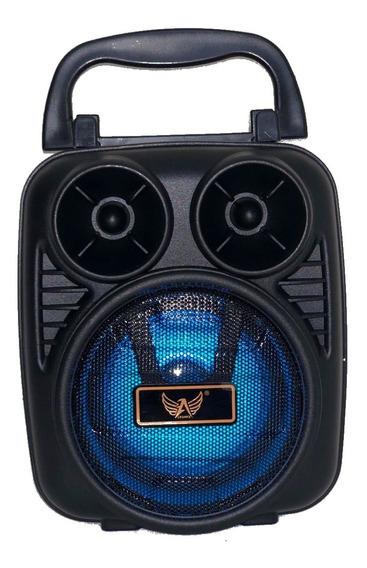 Caixa De Som Bluetooth Portátil Amplificada Pc Mp3 Fm Usb Sd