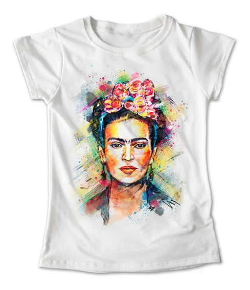 Blusa Frida Kahlo Pintura Colores Playera Frida 047