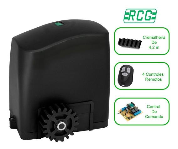 Kit Automatizador Motor 1/4 Hp Portão Deslizante 450 Kg Rcg