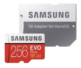 Micro Sd Samsung Evo Plus 256gb 4k U3 C10 Smartphone