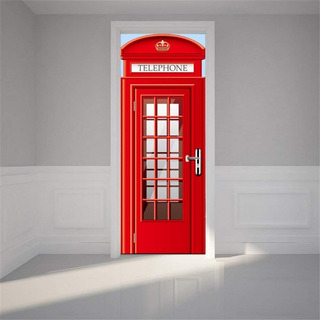 Mural Door Mural Decal Wallpaper Door Wall Sticker Telephone