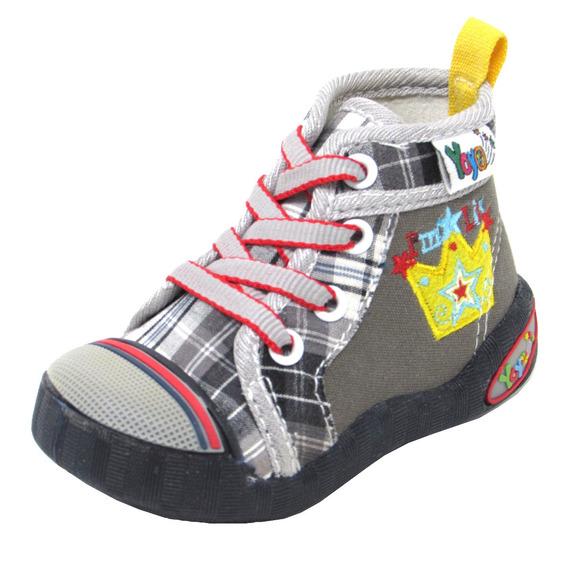 Zapatos Niños Yoyo M1015 Gris 19-24. Envío Gratis