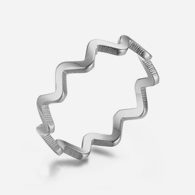 Anel Zigzag Em Aço Inox (20)