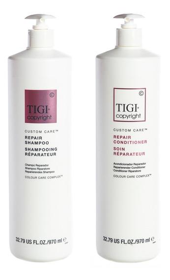 Tigi Copyright Repair Shampoo + Acondicionador De Pelo 970ml