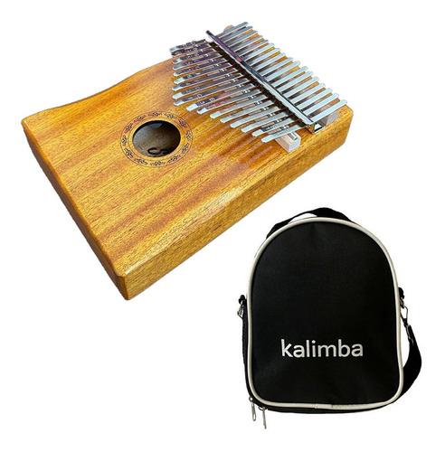 Imagem 1 de 4 de Kalimba Seven 17 Notas Skl-107 N C/ Bag