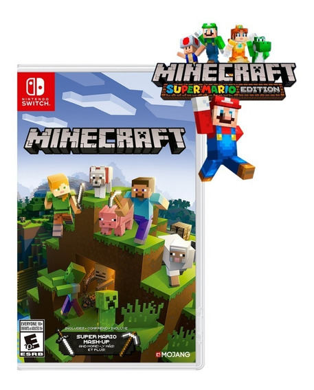 Nuevo Minecraft Nintendo Switch + Super Mario Mash-up Pack