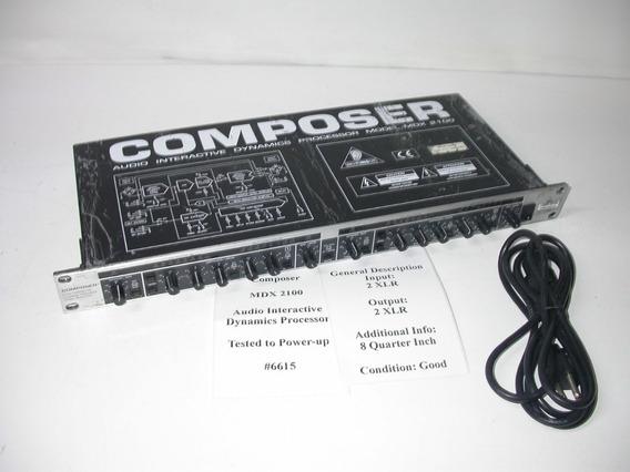 Compressor Behringer Mdx 2100